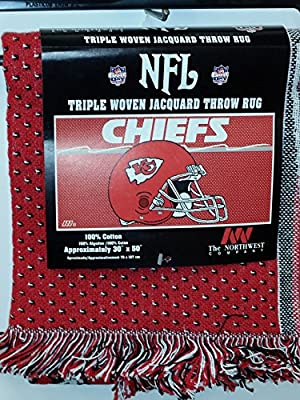 "NFL Throw Rug, ""Kansas City Chiefs"" NEW"