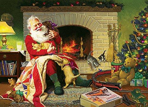 Cobble Hill Santa's Favorite Quilt Jigsaw Puzzle, 1000-Piece