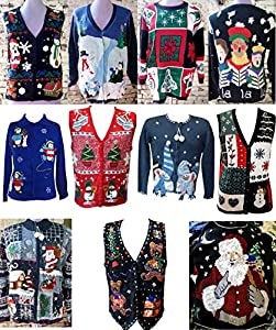 Ugly Christmas Sweater Tacky XMAS Holiday Party Sweatshirt Vest Chosen at RANDOM
