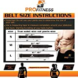 Genuine Leather Workout Belt by ProFitness Small Black/Red Premium Grade Heavy Duty Leather Adjustable Non-Slip Weightlifting Gym Belt for Men and Woman Comes With 60 Day Warranty