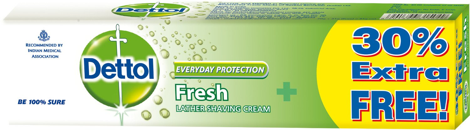 Dettol Fresh Lather Shaving Cream (78 grms) low price