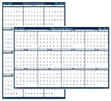 House of Doolittle Write-On/Wipe-Off Academic July 2011 to June 2012 Wall Planner, 24 x 37 Inch, Vertical and Horizontal Formats, Recycled, Made in the USA (HOD395)