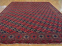10 x 12 HAND KNOTTED RED AFGHAN BALUCHI ORIENTAL RUG G22336
