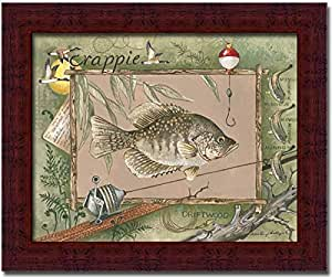 Crappie Fish Fishing Cabin Decor Wall Art Print Framed Picture Wall Decor Posters
