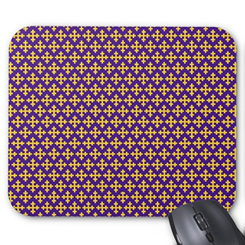 Cross With Crosslets In Yellow Pattern Mouse Pad (1010 Wi compare prices)