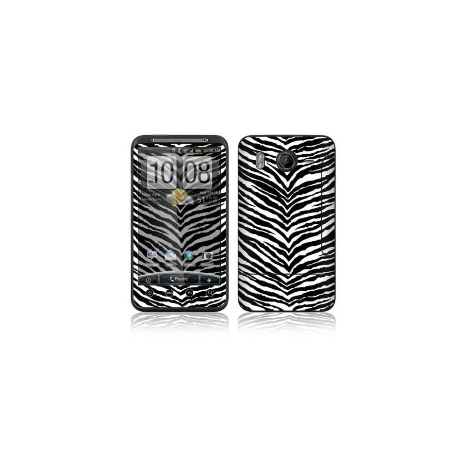 Black Zebra Skin Decorative Skin Cover Decal Sticker for HTC Desire HD Cell Phone