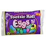 Tootsie Roll Eggs Candy Coated Egg Shaped Tootsie Rolls Easter Candy, 8 oz Bag (Color: Purple, Tamaño: One Size)
