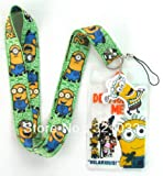 Despicable Me Minion Lanyard with Charm and ID Badge Holder Keys - Green Band