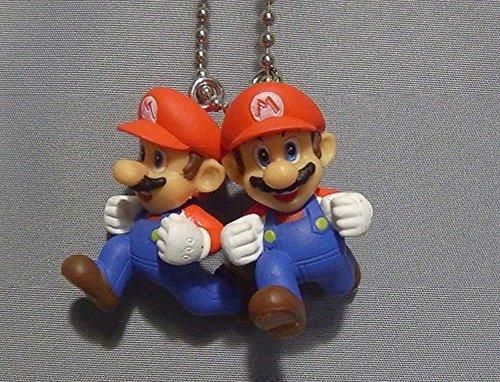 Super Mario 3-D world Mascot Swing Figure Keychain~Double Mario 28mm