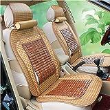 (ファーストクラス)FirstClass 竹 車シートカバー 涼しい バンブー ファブリック 滑り止めシート フルセット エアバッグホールあり フロント リア クッション 夏 汎用 8pcs