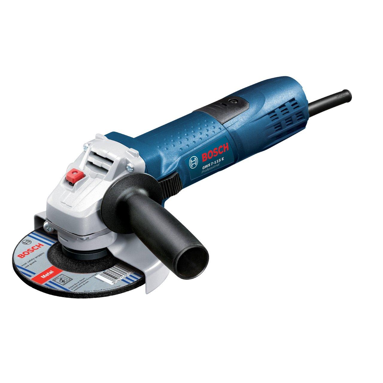Bosch Professional GWS 7115 E, 720 W Nennaufnahmeleistung, 2.800  11.000 min1 Leerlaufdrehzahl, 115 mm ScheibenØ, Schutzhaube  BaumarktRezension