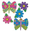 Wallies 12932 K.P. Kids Butterfly Garden Wallpaper Cutout