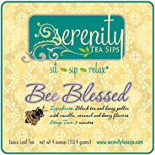 Serenity Tea Sips Bee Blessed - 4oz loose leaf black tea with honey and caramel notes