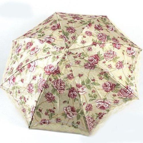 Paradise Brocade of Peony Foldable Umbrella, Anti-UV Sun Umbrella, Parasol Series & Colors Varies
