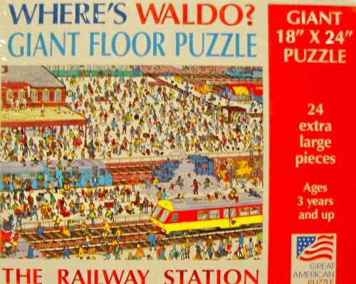 Picture of Great American Where's Waldo? Giant Floor Puzzle - The Railway Station (B0013N8D70) (Floor Puzzles)