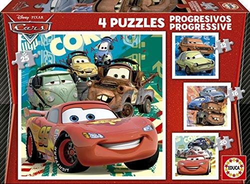 educa-14942-cars-2-puzzle-4-unidades-20-piezas
