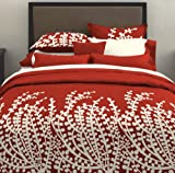 City Scene, Branches Collection, Spice Red Comforter Set, King