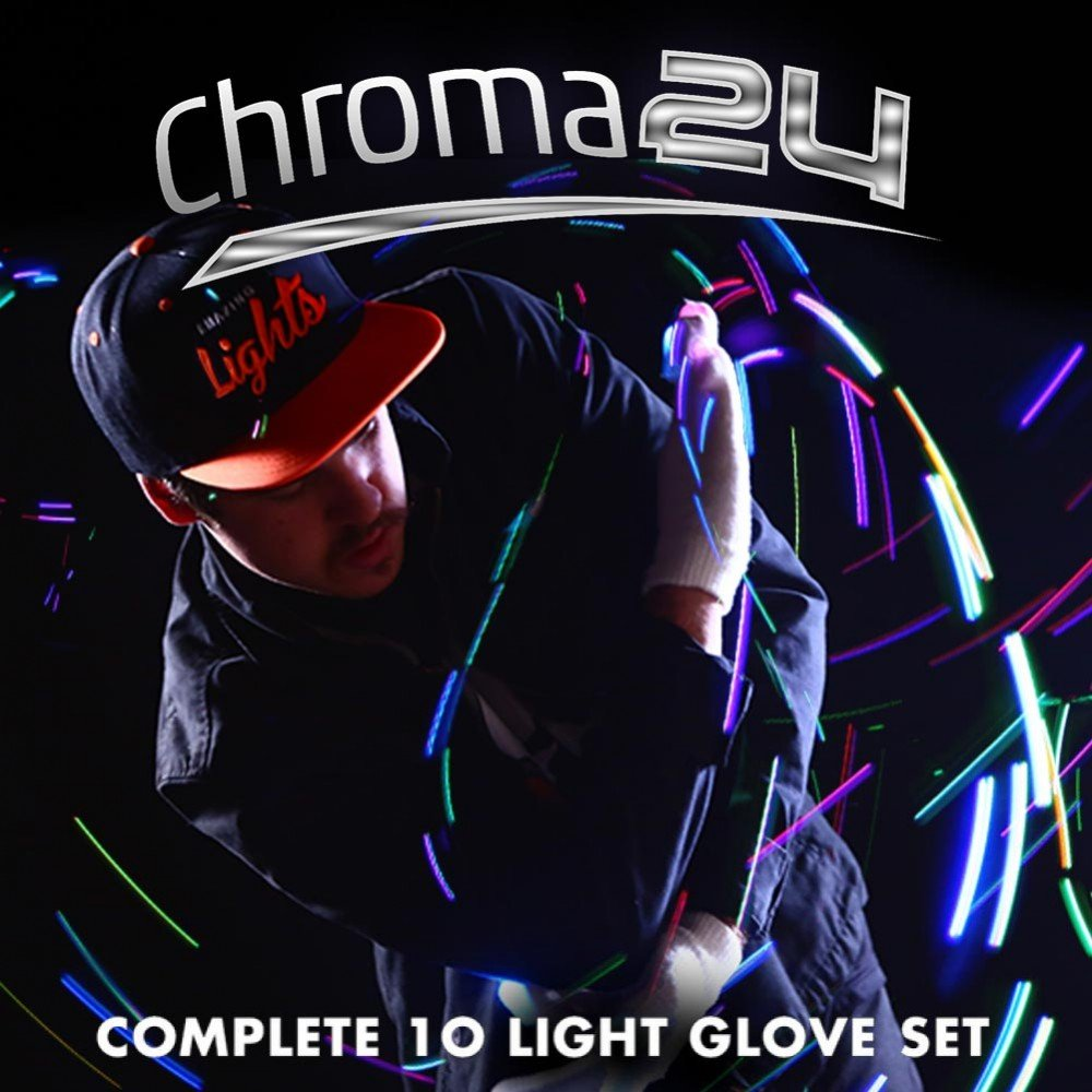 Chroma24 LED Rave Gloves