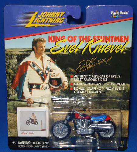 Johnny Lighting King of the Stuntmen Evel Knievel Caesar's Palace Motorcycle(#1 in Series of 4)