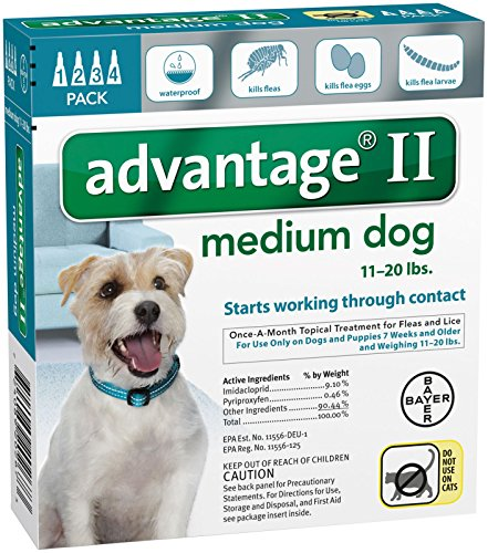 Advantage II Medium Dog 4-Pack (Dog Advantage Flea compare prices)