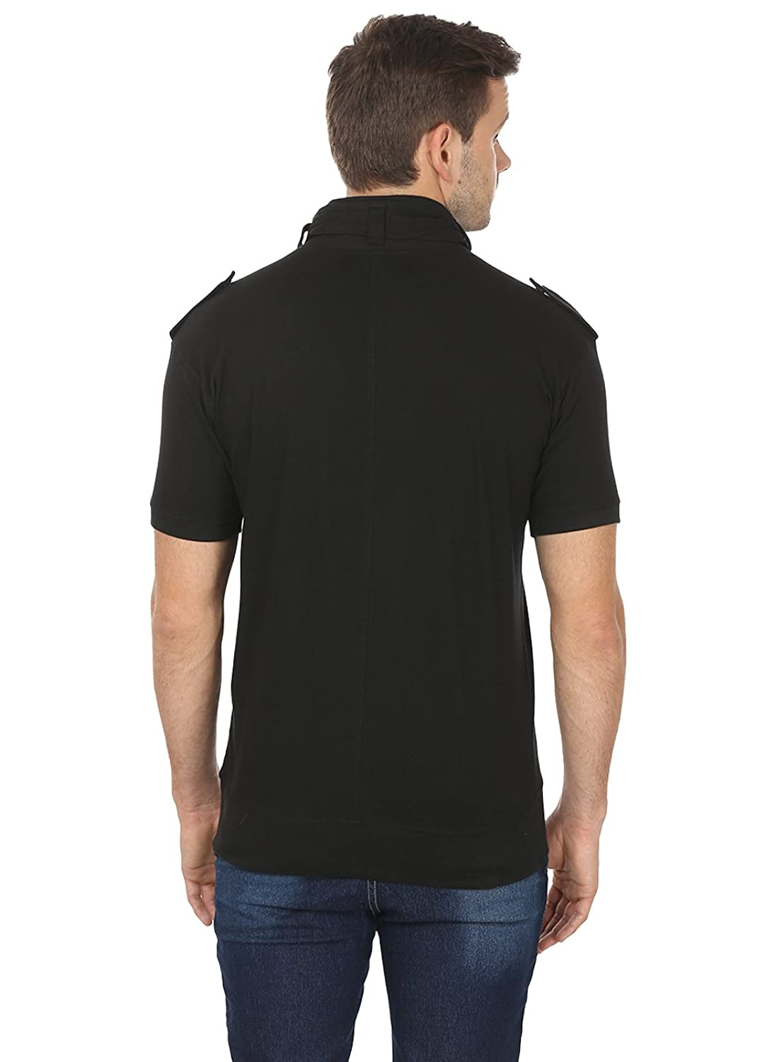 Black t shirt collar - Black Collection Stylish Flap Collar T Shirt Amazon In Clothing Accessories
