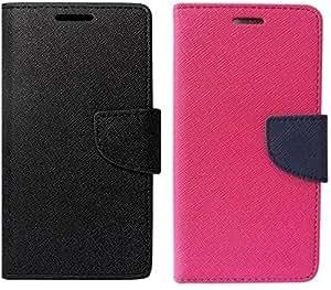 DMGC FLIP COVER FOR Lenovo Vibe K5 Plus - (Black,Pink)