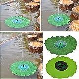 Sun Port® Green Lotus Leaf 1.4W Solar Powered Water Floating Pump Garden Pool Pond Fountain 150L/H (JT-160F-1.4W)