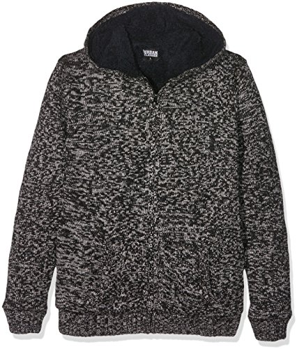 Urban Classics Ladies Winter Knit Zip Hoody Felpa jogging donna nero/grigio L