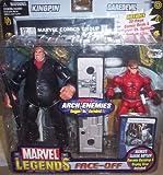 Marvel Legends Face Off Series 1 Action Figure Twin Pack Kingpin Black Suit vs. Daredevil Unmasked Variant