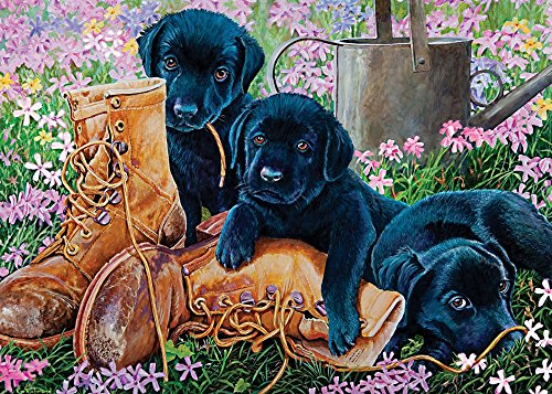 Cobble Hill Black Lab Puppies Jigsaw Puzzle, 35-Piece