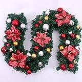 2.7m Green Cane Christmas Tree Garland Garden Decorative Rattan