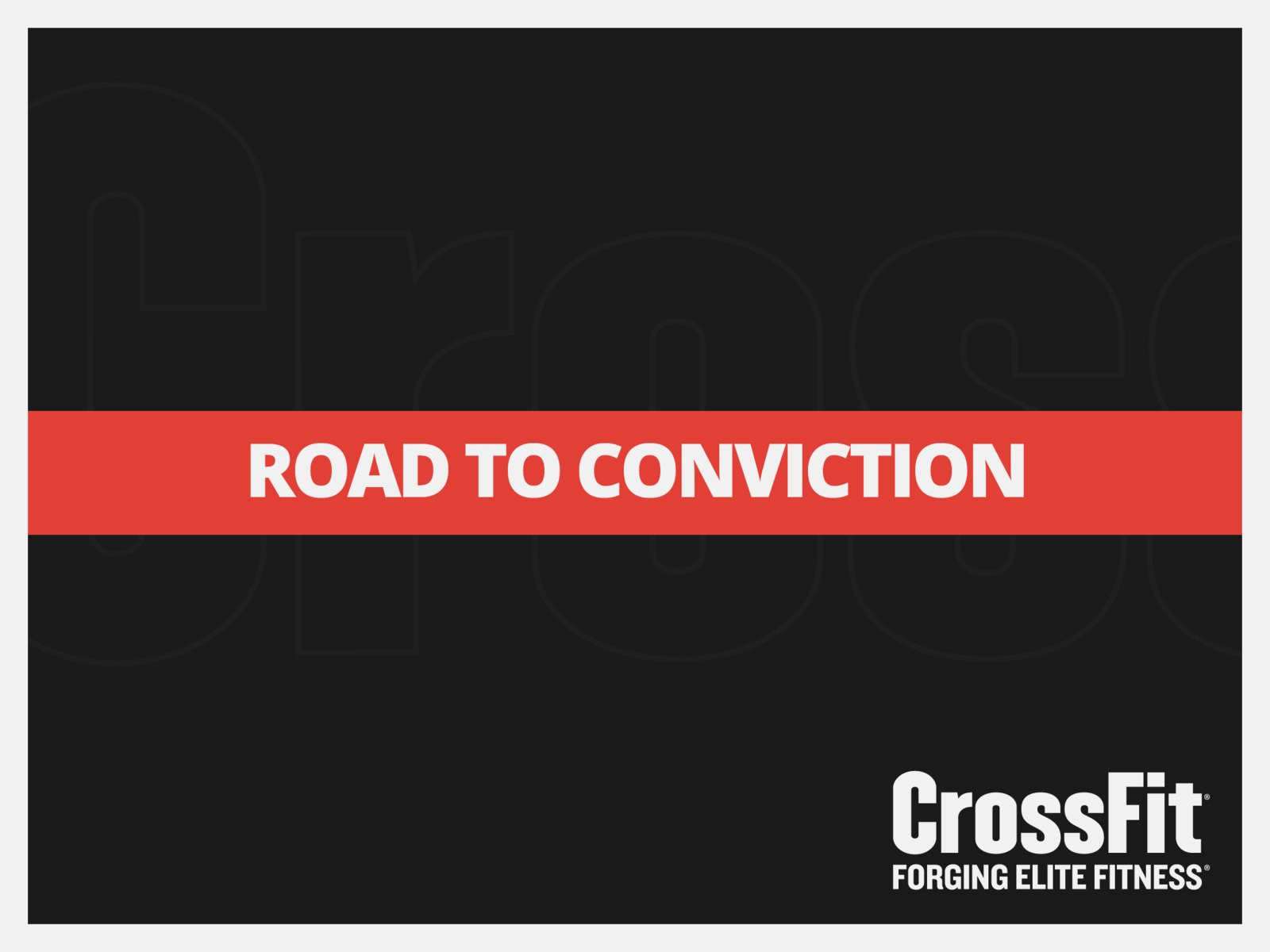 Road to Conviction