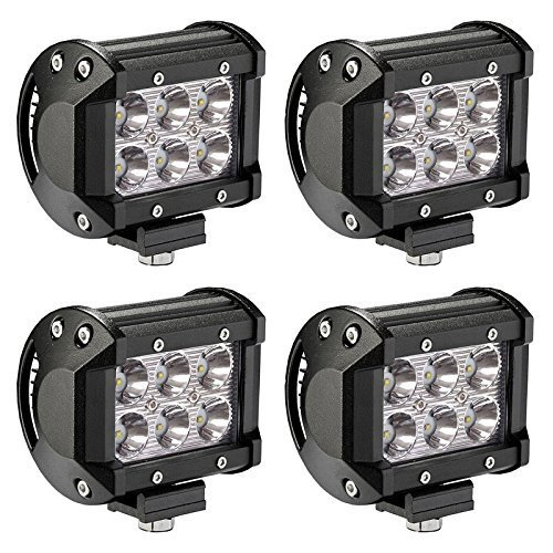 Amazon Off Road Division 4x18A Cree LED Dual Rows Work Light Bar Spot Beam for Off-road Fog Driving, Platinum (Dual Beam Driving Lights compare prices)