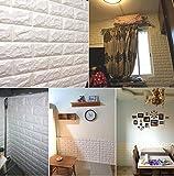 すごい壁 キッチンのための家の装飾3D PE発泡タイルステッカー 汚れ止め板 壁パネルテクスチャデザインアートタイル壁タイルステッカー