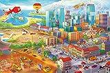 Ciudad colorida de c�mic fotomurales decoraci�n de la pared de Great Art 336 cm x 238 cm