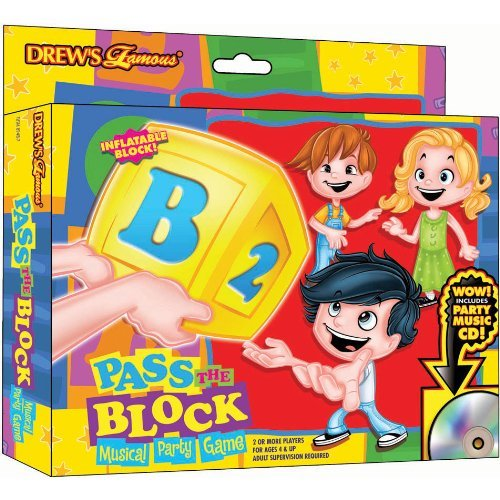 Super Fun Drew's Famous Pass The Alphabet Block Birthday Party Game, Multicolored