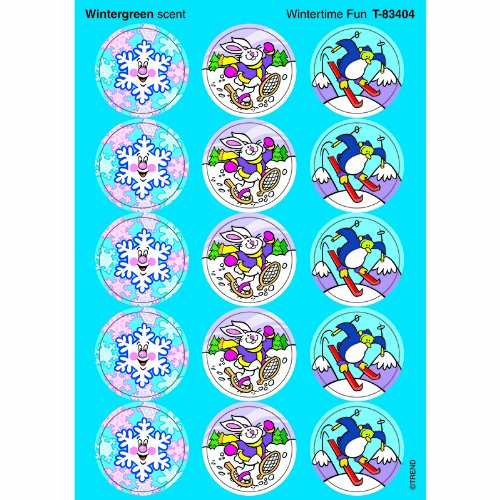 Trend Enterprises Wintertime Fun Stinky Stickers (T-83404)