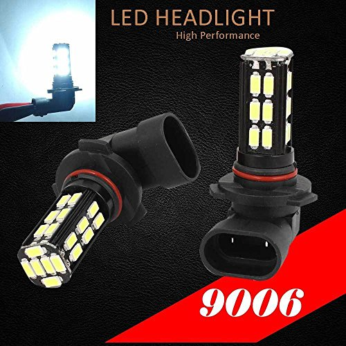 9006 HB4 Samsung LED Chip 30 SMD White 6000K Headlight 2x Light Bulb Low Beam (Led 9005 Headlight Bulb compare prices)