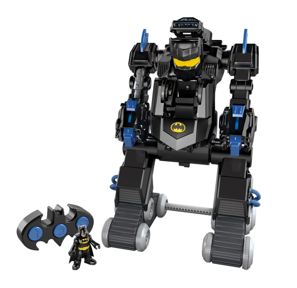 Imaginext Transforming Bat Bot has over 100 sound effects & phrases!