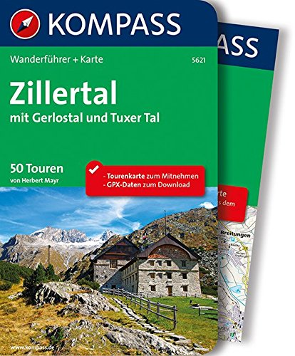 zillertal-mit-gerlostal-und-tuxer-tal-wanderfuhrer-mit-extra-tourenkarte-zum-mitnehmen-kompass-wande