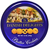 Sherwood DANISH DELIGHTS Butter Cookies, (340g). In a Nice Gifting Tin, Box Pack Of 2