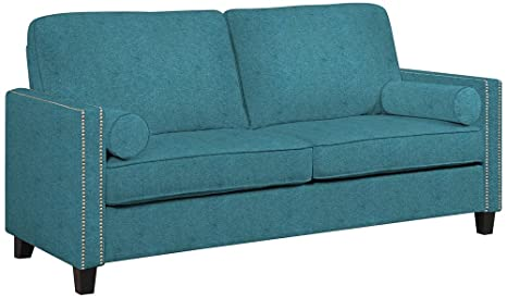 angelo:HOME Marie Parisian Teal Blue Sofa