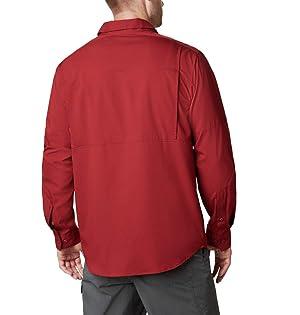 Columbia Men's Silver Ridge Lite Long Sleeve Shirt, Red Jasper, X-Large (Color: Red Jasper, Tamaño: X-Large)