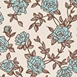 Graham & Brown Rosa Wallpaper Duck Egg Blue / Cream