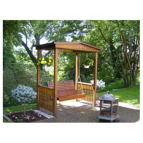 Outdoor swing szewczak 39 s garden swing arbor for Outdoor swing plans
