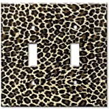 Art Plates - Leopard Print Switch Plate - Double Toggle