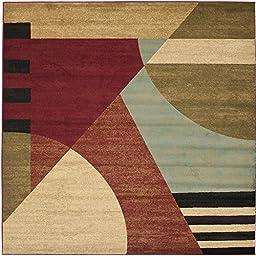 Safavieh Porcello Collection PRL6861-9191 Modern Abstract Art Multicolored Square Area Rug (5\' Square)