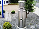 Traedgard® Heizstrahler Kompakt Midi Edelstahl