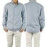 (ポールスミス)PAUL SMITH メンズプリントシャツ JLFJ 448N 526 ブルー×ホワイト [並行輸入商品]