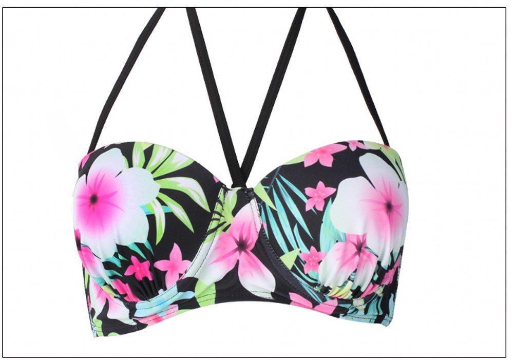 Dasbayla Women Fashion Floral Bathing Suit Push up Skirt Swimsuit Plus Size Bikini 2